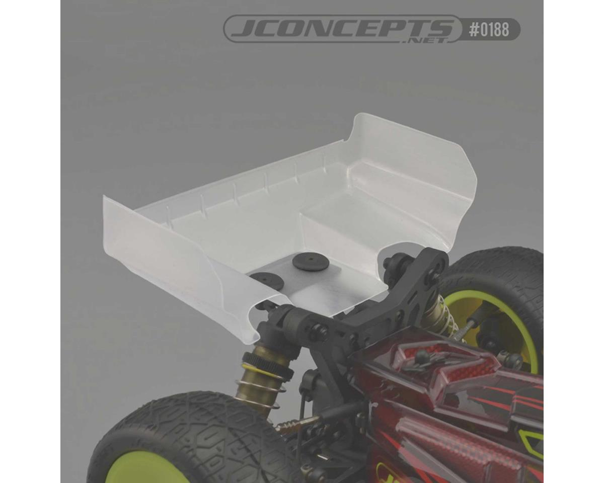 JConcepts Tekno EB410 Aero S-Type Rear Buggy Wing (2) (Clear)