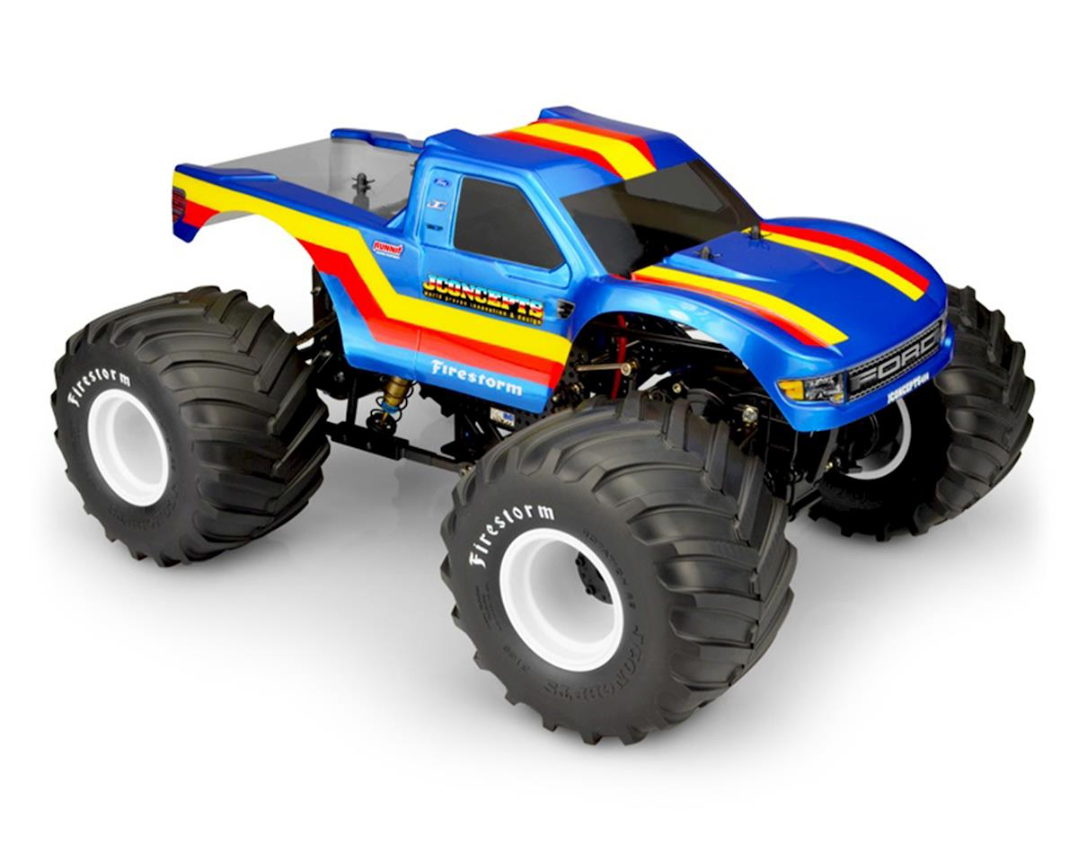 "JConcepts 2010 Ford Raptor MT ""Twenty One"" Monster Truck Body (Clear) (Tamiya Clod Buster)"