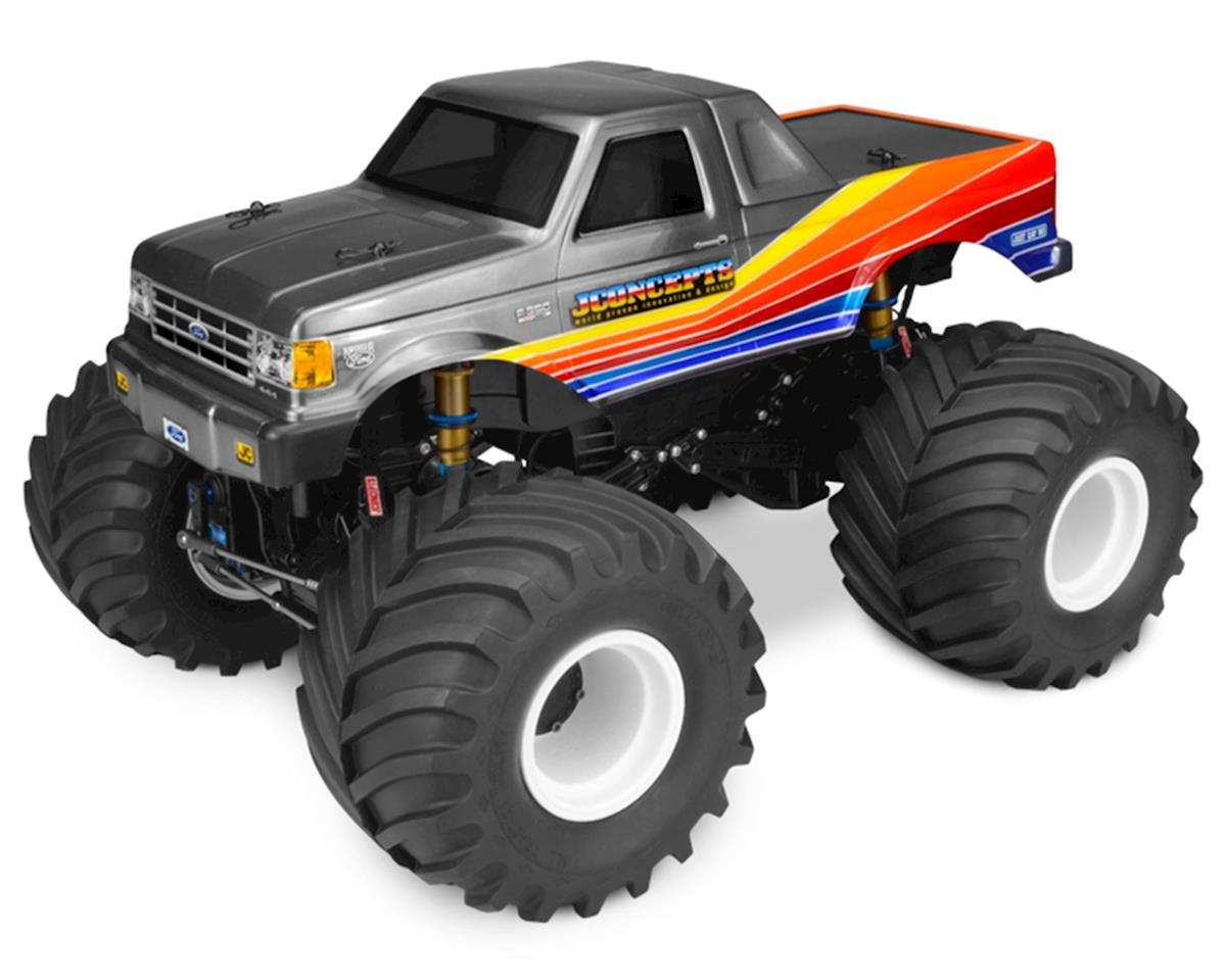 1989 Ford F-250 Monster Truck Body w/Racerback (Clear) by JConcepts