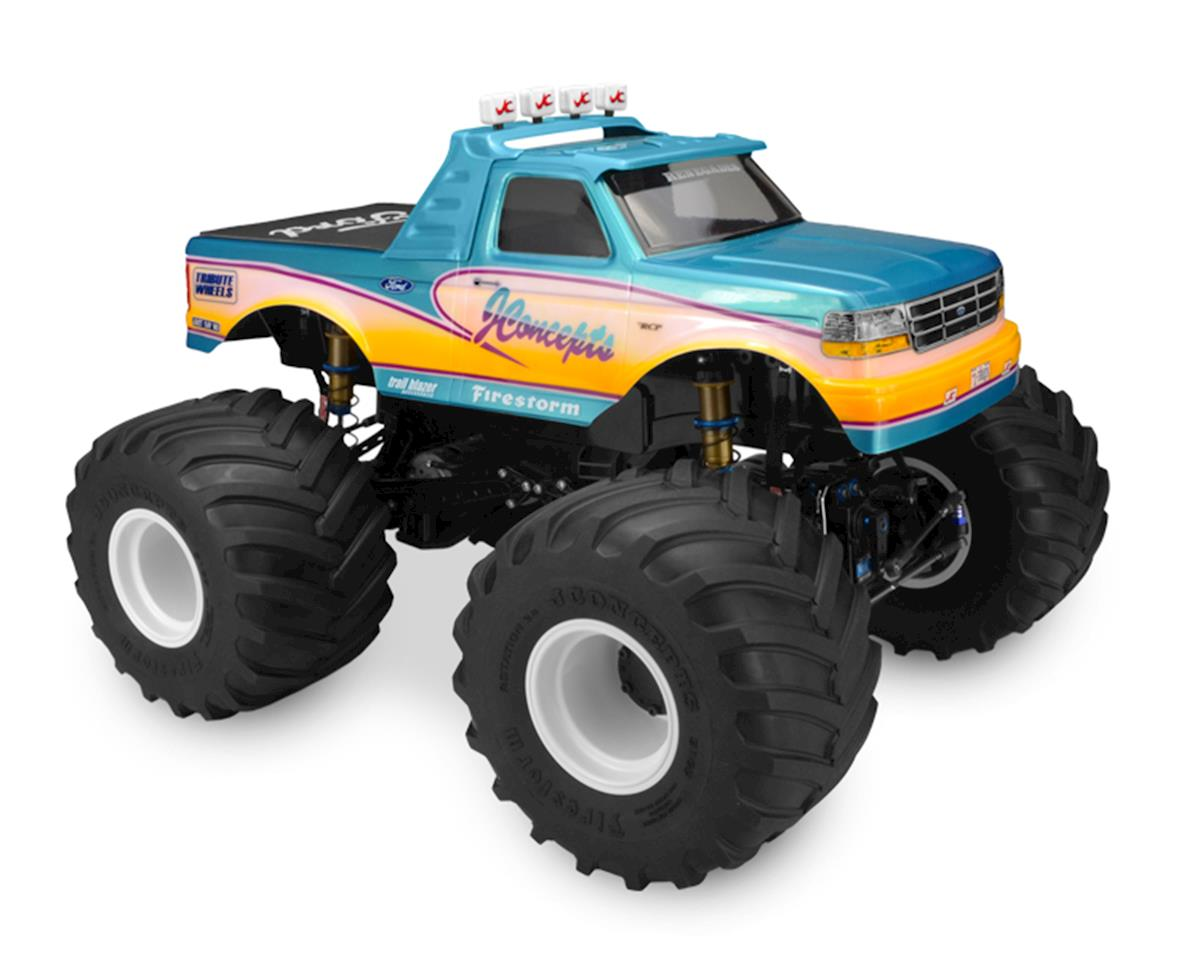 1993 Ford F-250 Monster Truck Body w/Racerback 2 & Visor (Clear) by JConcepts