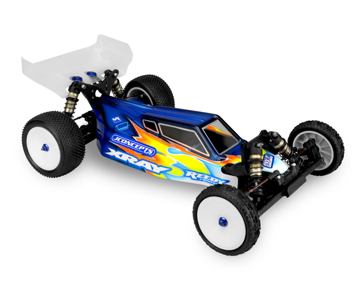 "JConcepts XRAY XB2 ""S2"" Body w/6.5"" Aero Wing (Clear)"