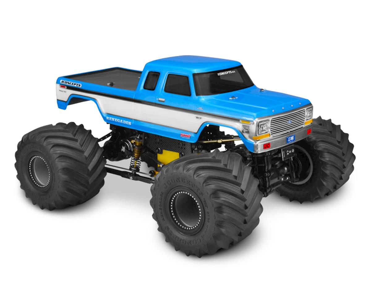 JConcepts 1979 F250 SuperCab Monster Truck Body w/Bumpers (Clear)