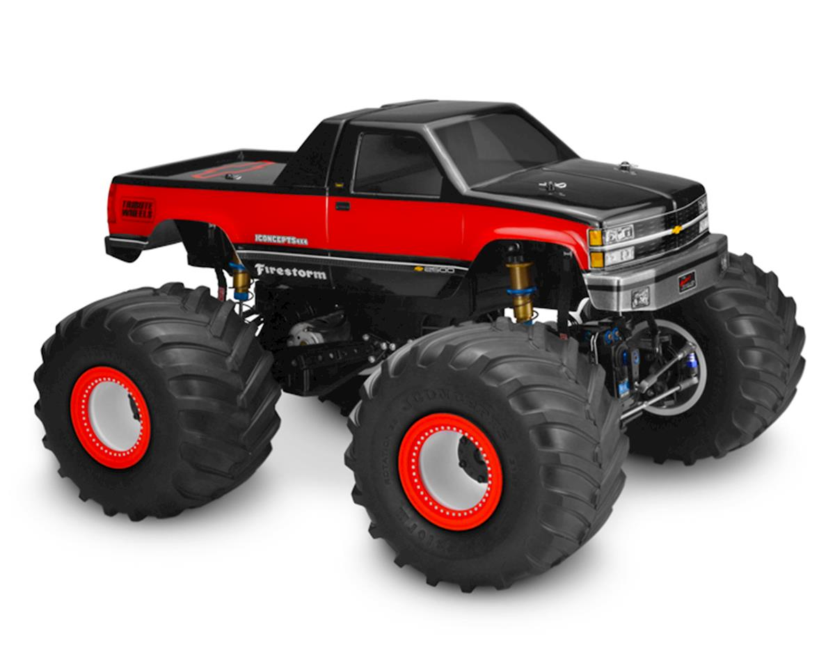 1988 Chevy Silverado Monster Truck Body (Clear) by JConcepts