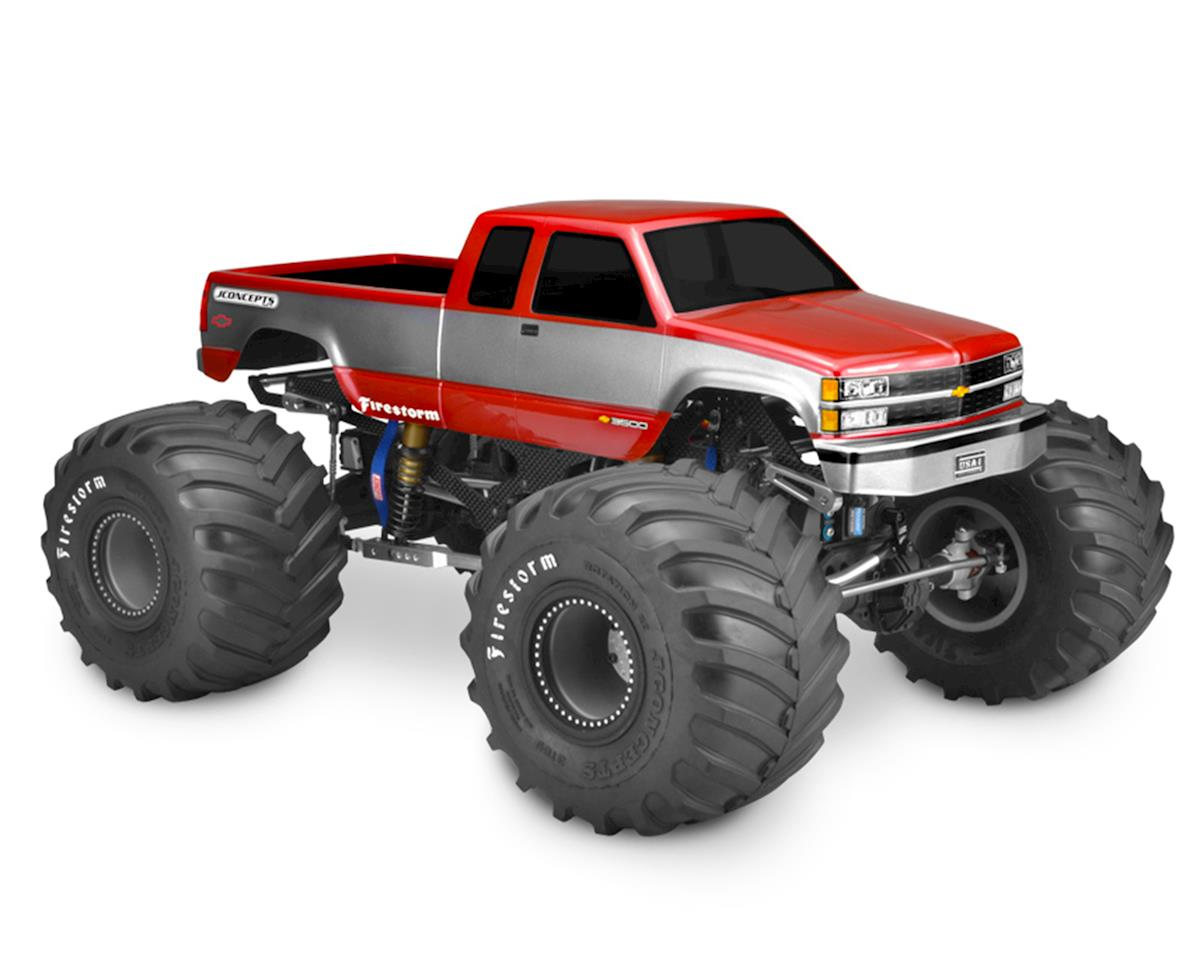 1988 Chevy Silverado Extended Cab Monster Truck Body (Clear) by JConcepts