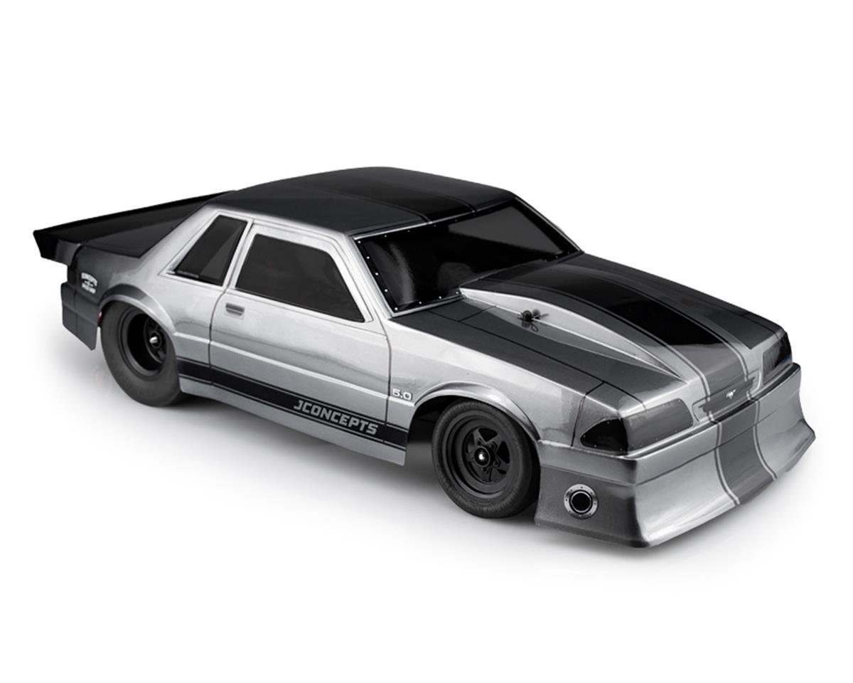 "JConcepts 1991 Ford Mustang ""Fox Body"" Street Eliminator Body (Clear) (Traxxas Slash)"