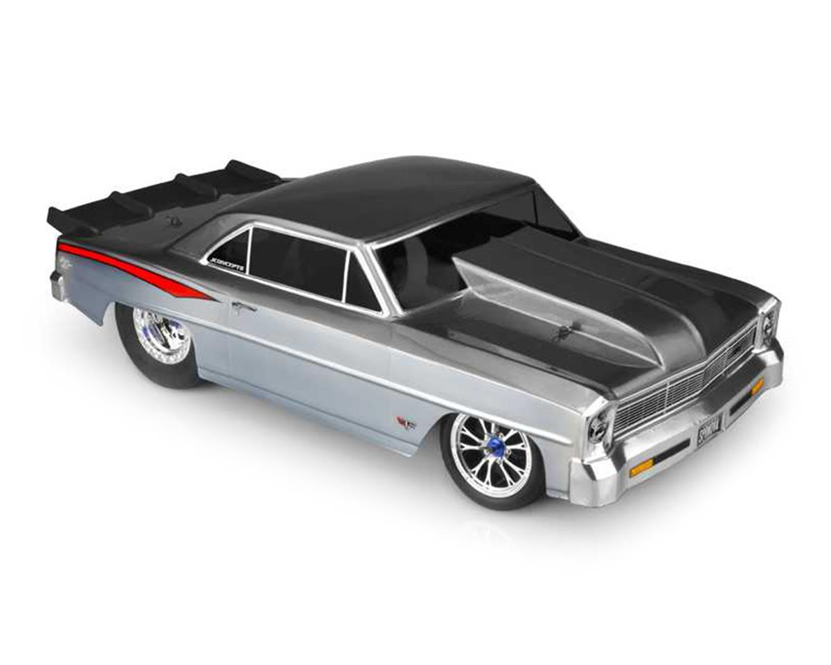 JConcepts 1966 Chevy II Nova V2 Street Eliminator Drag Racing Body (Clear)