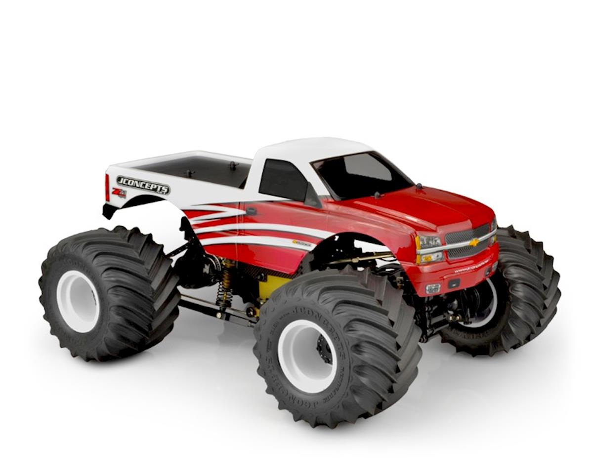 JConcepts 2005 Chevy 1500 MT Single Cab Monster Truck Body (Clear)