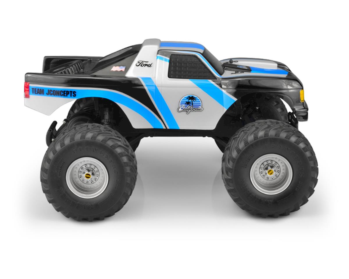 """JConcepts Traxxas Stampede 1989 Ford F-150 """"California"""" Monster Truck Body (Clear)"""