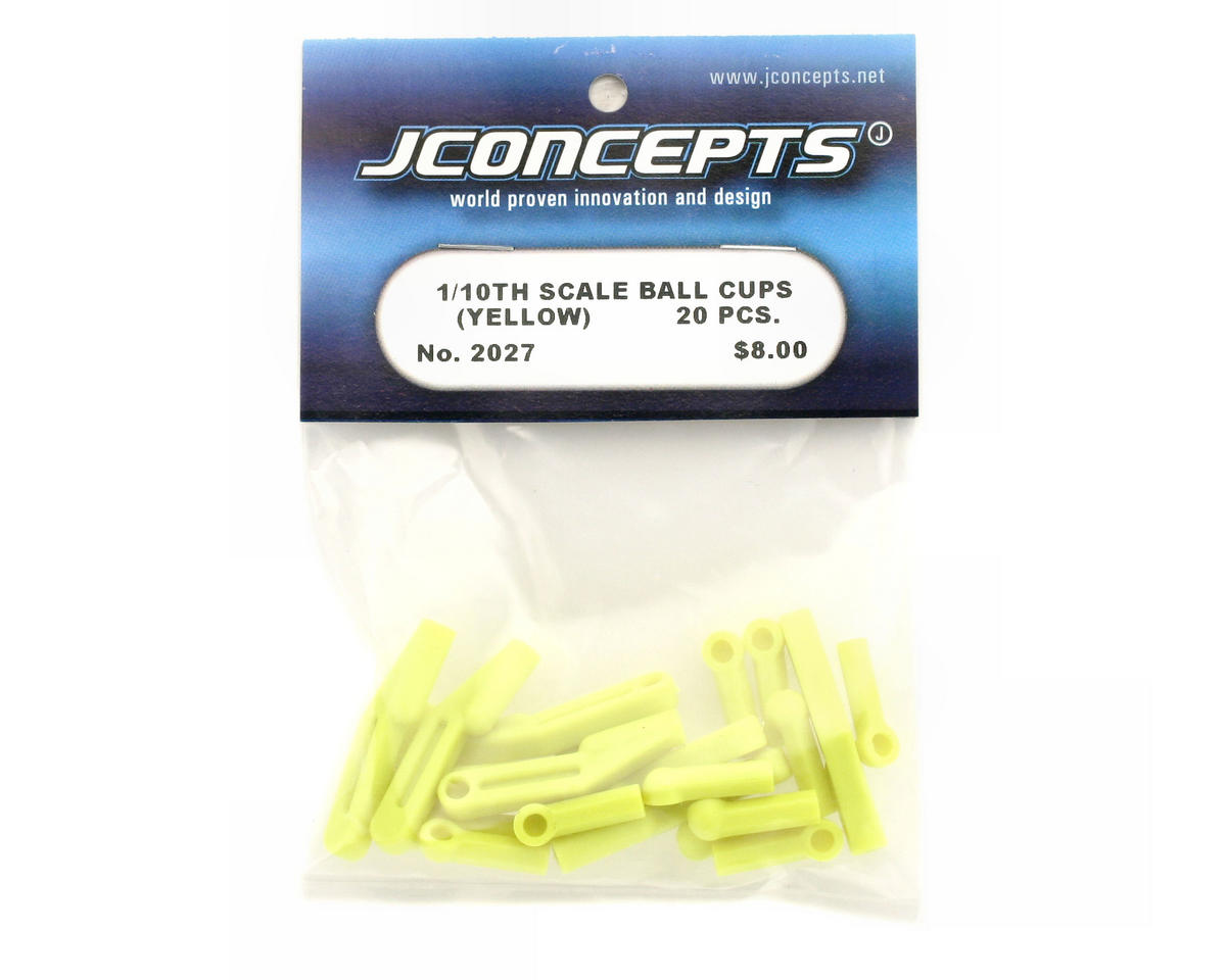JConcepts 1/10 Ball Cups (Yellow) (20)