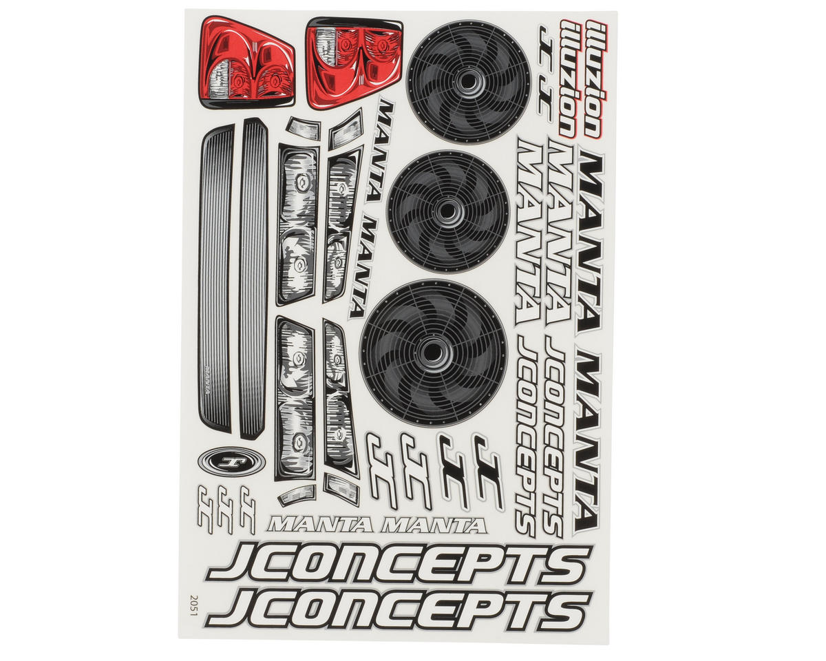 JConcepts Manta Decal Sheet