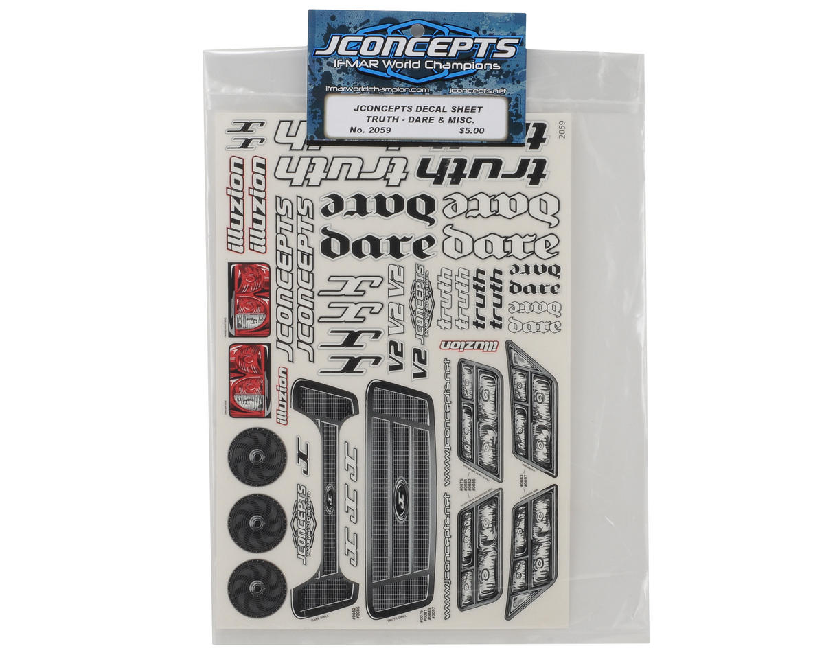 JConcepts Truth/Dare Decal Sheet