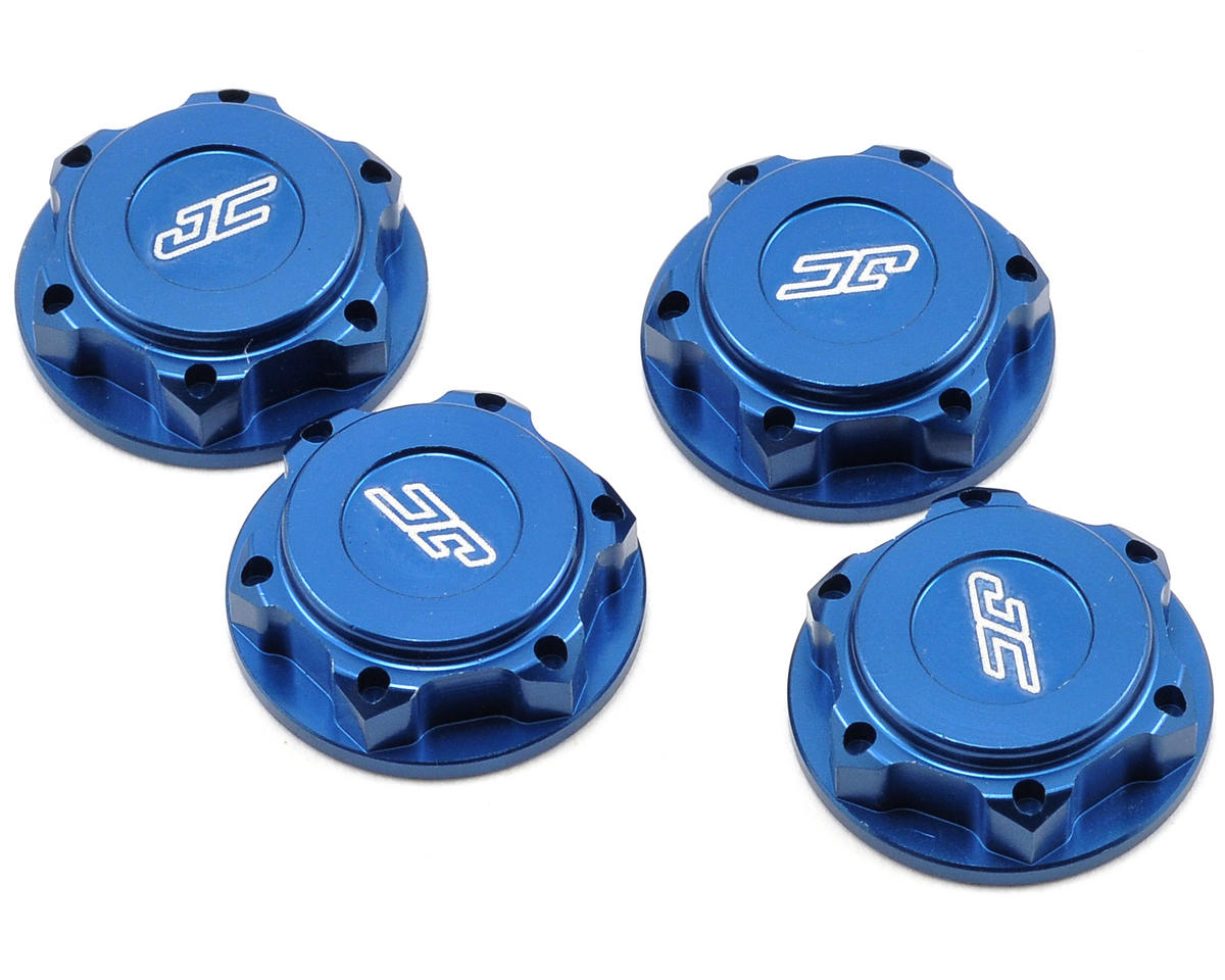 JConcepts Illuzion 17mm Lightweight Closed End Fine Thread Wheel Nut (Blue) (4)