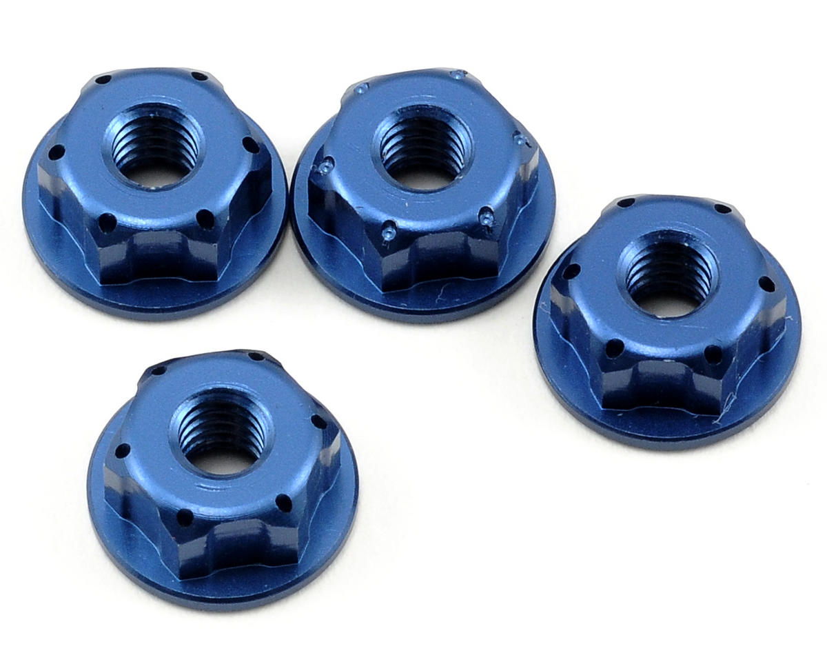 "JConcepts 8/32"" Lightweight Locking Wheel Nut Set (Blue) (4) (Team Associated RC10 B4.1)"