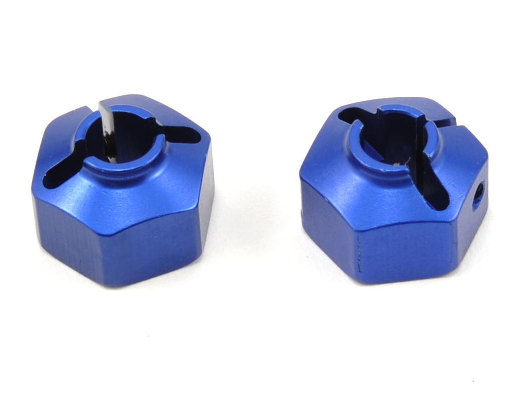 JConcepts 12mm Aluminum Rear Hex Adapter Set (Blue) (2)
