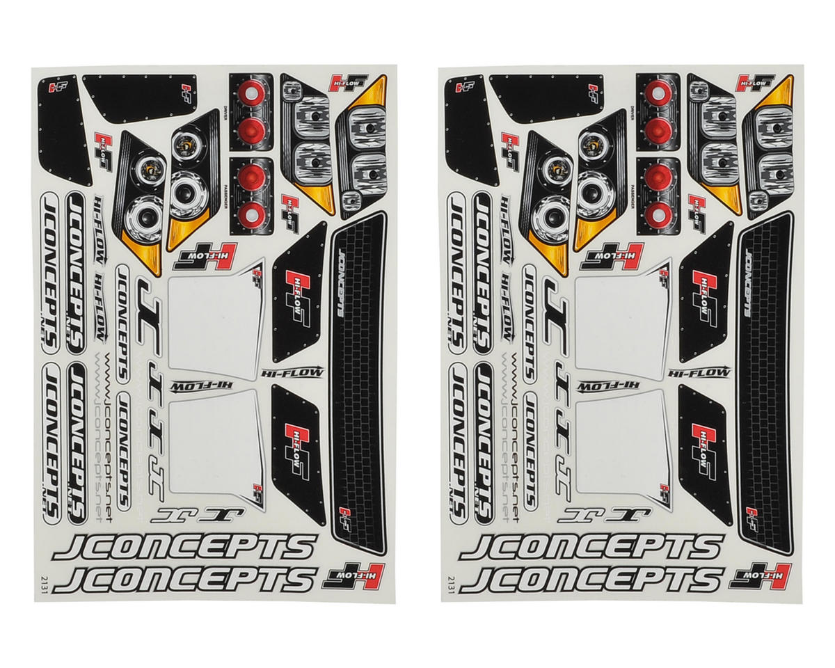 JConcepts SCT Hi-Flow Decal Sheet (2)