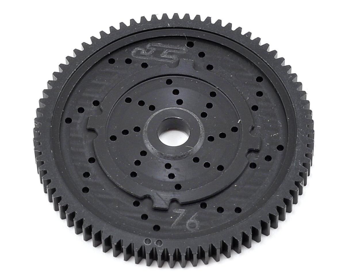"48P TLR ""Silent Speed"" Machined Spur Gear (76T) by JConcepts"