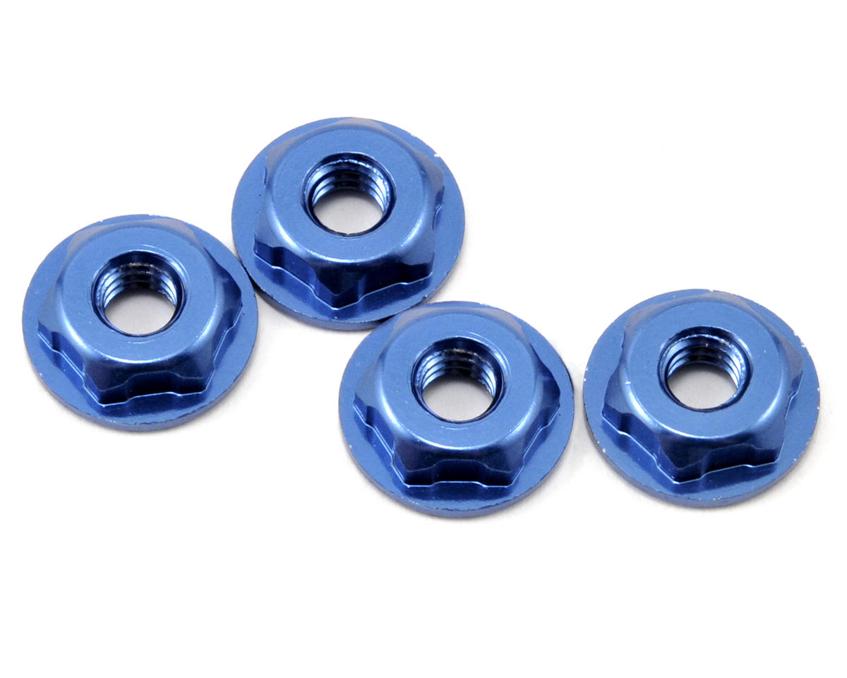 "JConcepts 8/32"" Thin-Pattern Lightweight Locking Wheel Nut Set (Blue) (4)"