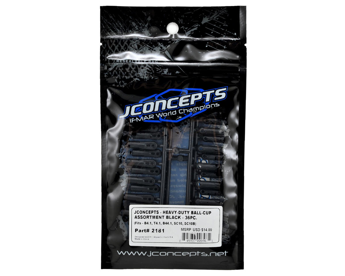 JConcepts Rib & Wedge Ball Cup Assortment (36)