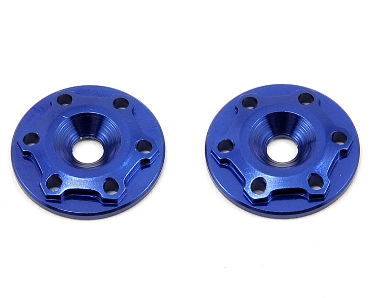 "JConcepts Aluminum ""Finnisher"" Wing Button (Blue) (2) (RB Products RB E One)"