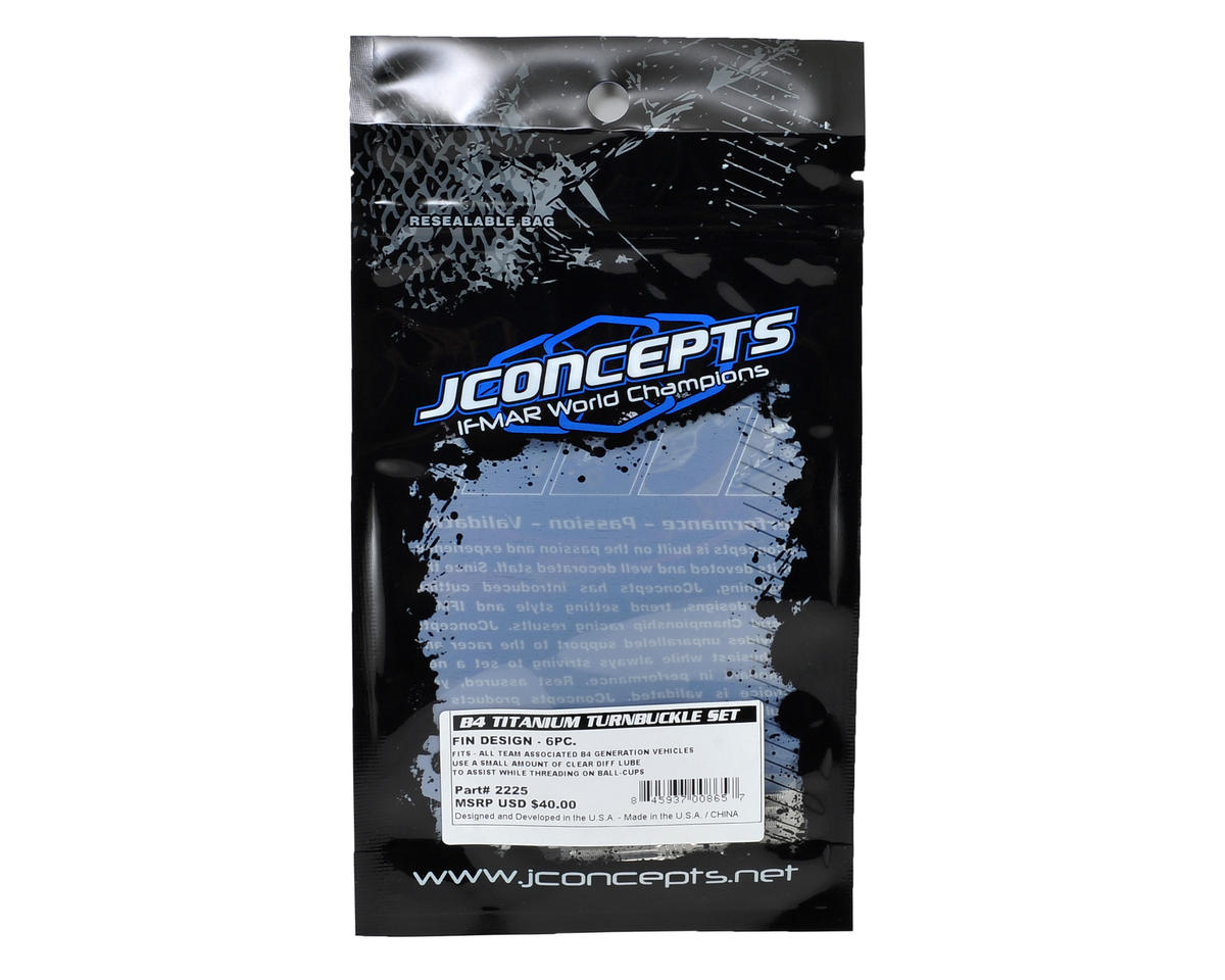 JConcepts B4/B5 Fin Titanium Turnbuckle Set (6)