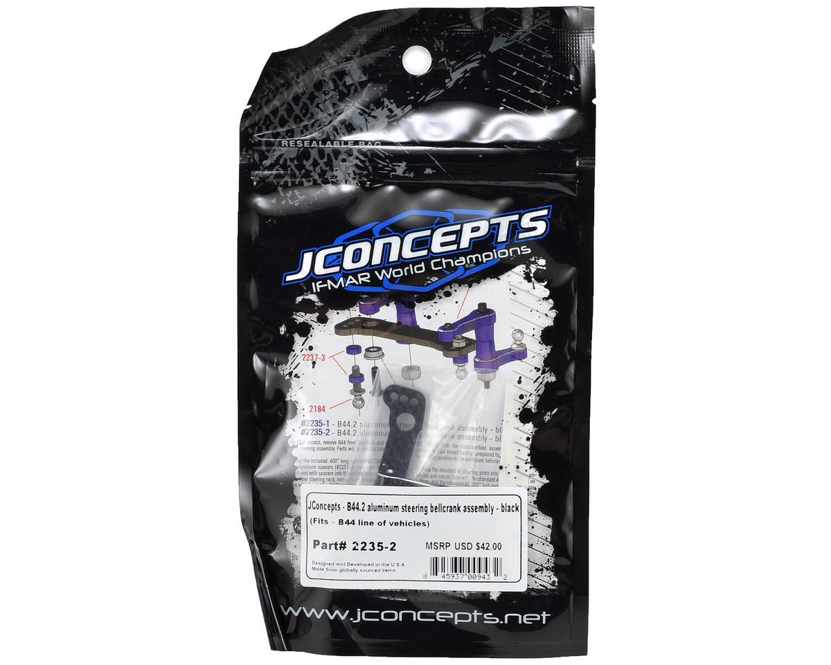 JConcepts B44.2 Aluminum Steering Bellcrank Assembly (Black)