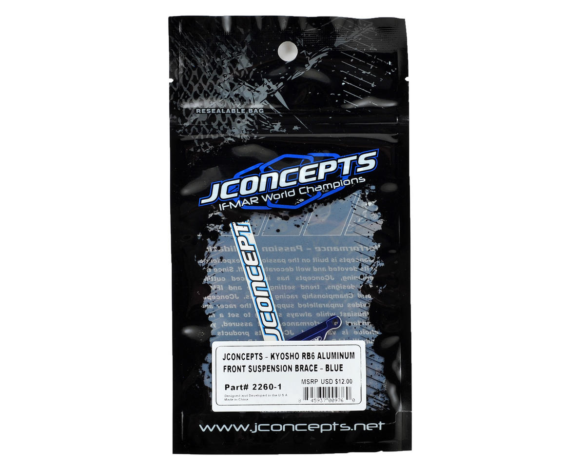 JConcepts RB6 Aluminum Front Suspension Brace (Blue)