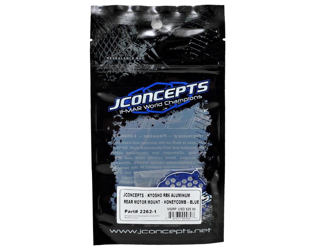 JConcepts RB6 Aluminum Honeycomb Motor Mount (Blue)