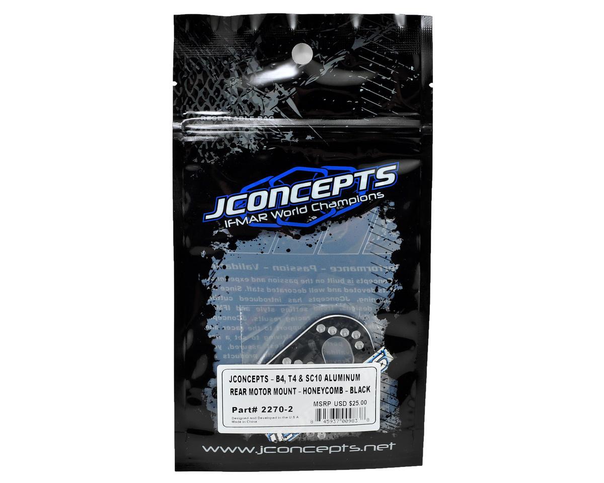 JConcepts B4/T4/SC10 Aluminum Honeycomb Motor Mount (Black)