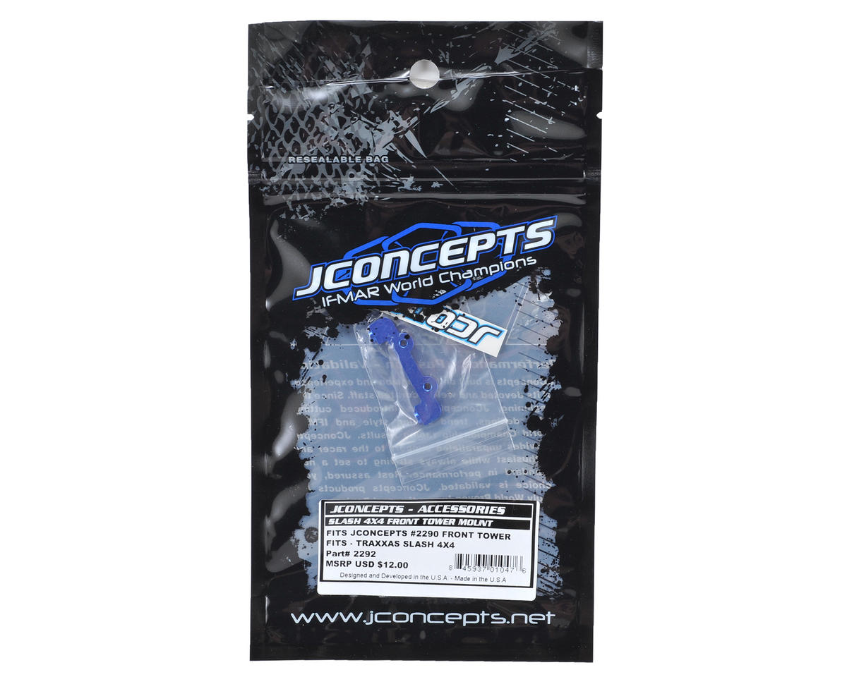 JConcepts Slash 4x4 Front Shock Tower Mount (Blue)
