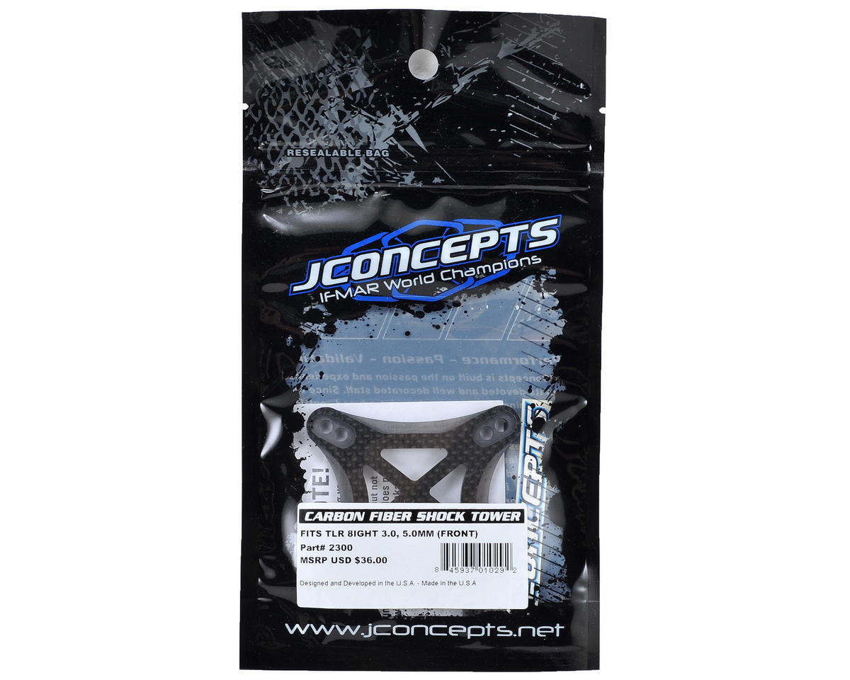 JConcepts TLR 8ight 3.0 5.0mm Carbon Fiber Front Shock Tower