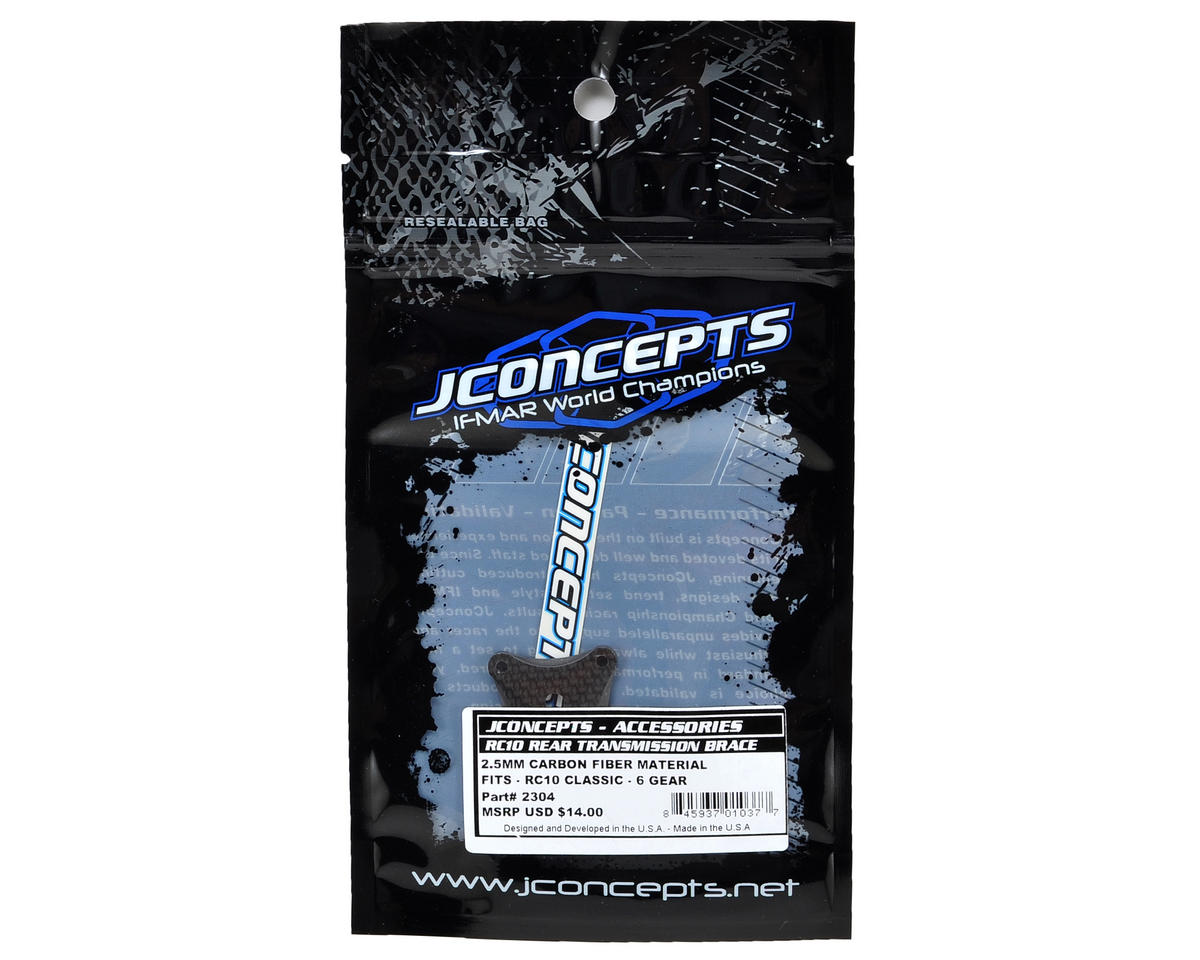 JConcepts RC10 Classic 2.5mm Carbon Fiber 6 Gear Transmission Brace