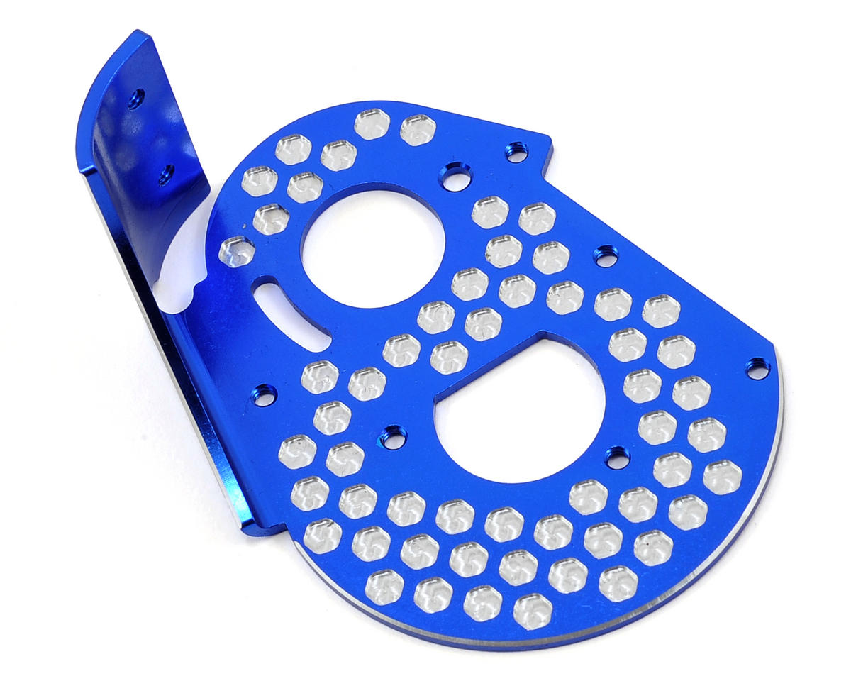 JConcepts Team Associated RC10 Classic Aluminum Honeycomb Rear Motor Plate (Blue)