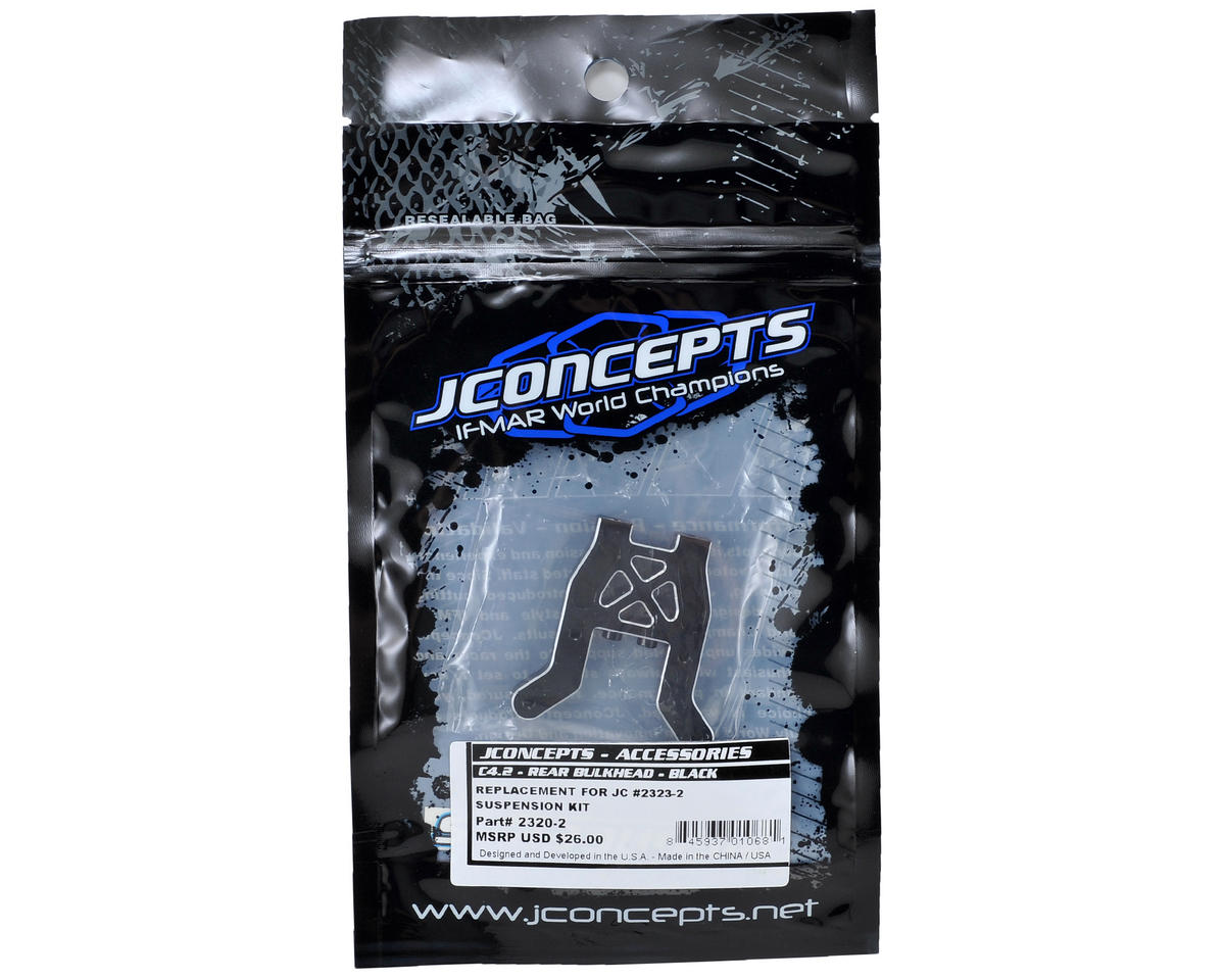 JConcepts C4.2 Aluminum Rear Bulkhead (Black)