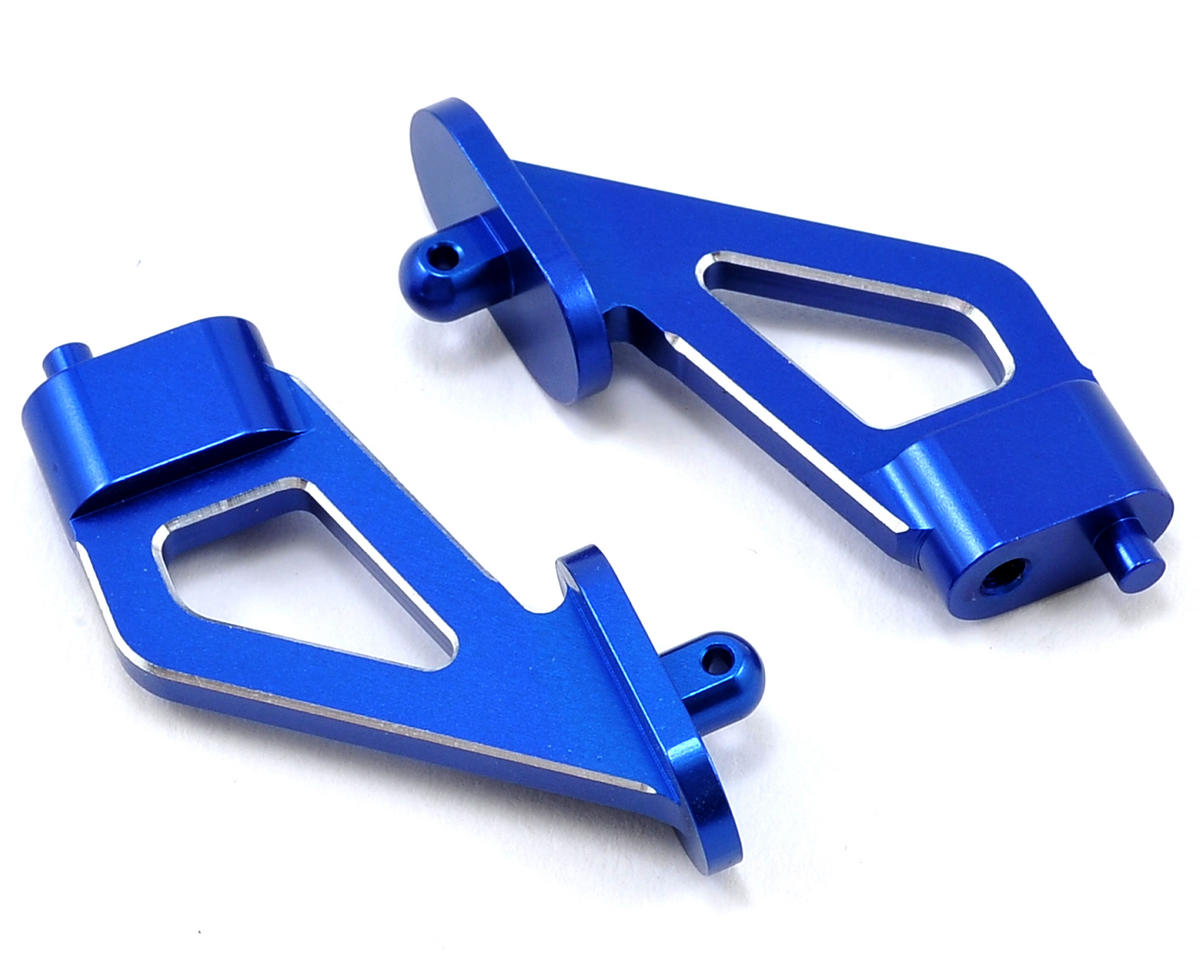 JConcepts C4.2 Aluminum Rear Wing Mounts (Blue)