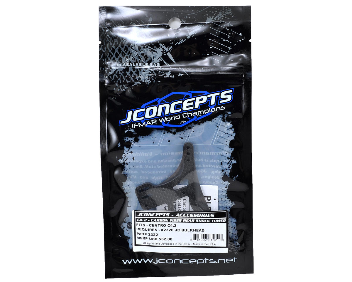 JConcepts C4.2 4mm Carbon Fiber Rear Shock Tower