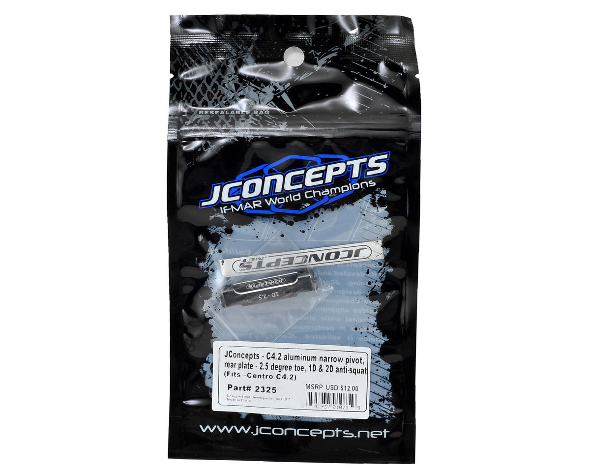 JConcepts C4.2 Aluminum Narrow Pivot Rear Plate (2.5° Toe, 1° & 2° Anti-Squat)
