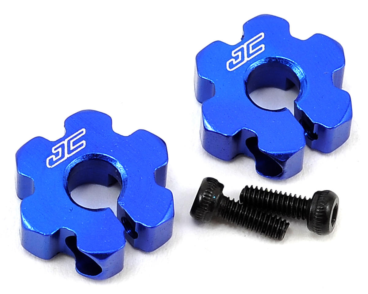 JConcepts B5/B5M Aluminum Ultra Front Wheel Hexes (Blue)