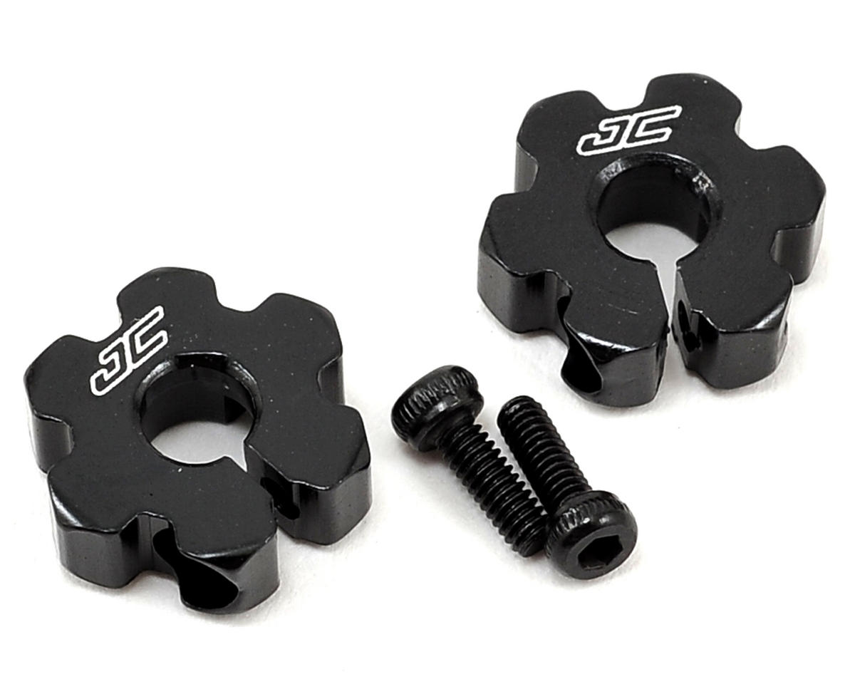 JConcepts B5/B5M Aluminum Ultra Front Wheel Hexes (Black)