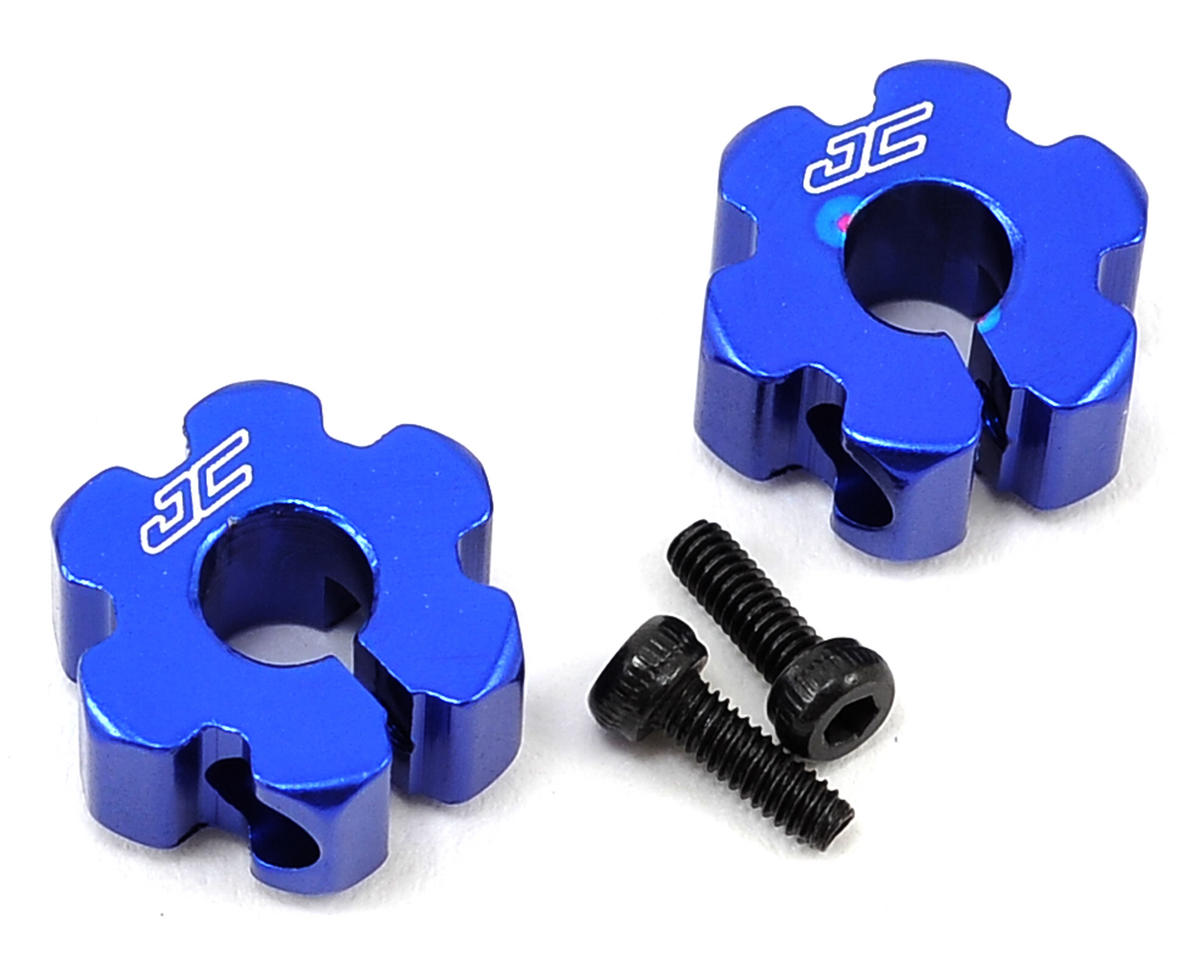 JConcepts B6/B5/B5M Aluminum Ultra Rear Wheel Hexes (Blue)