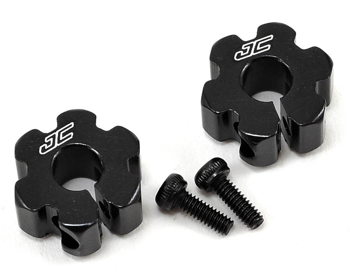 B5/B5M Aluminum Ultra Rear Wheel Hexes (Black) by JConcepts