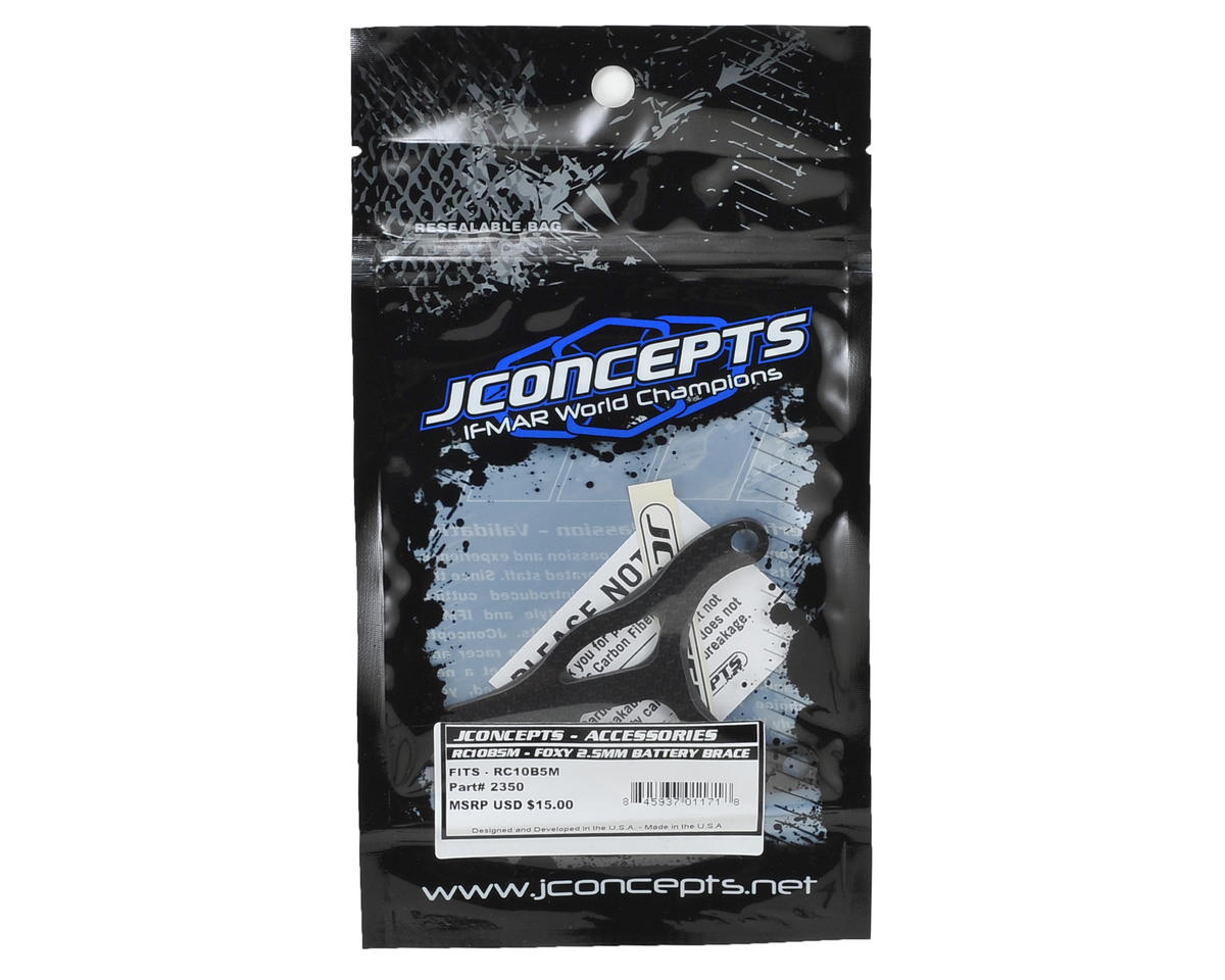 "JConcepts ""Foxy"" B5M Carbon Fiber Battery Brace"