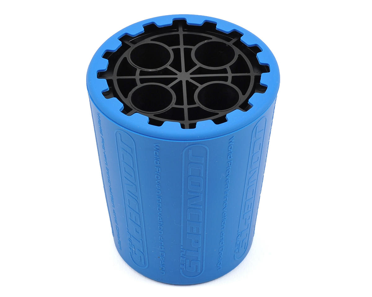 Exo 1/10th 12mm Shock Stand & Cup (Blue/Black) by JConcepts