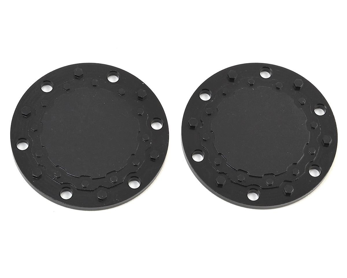 JConcepts Aluminum Tribute Wheel Planetary Cap (Black) (2)