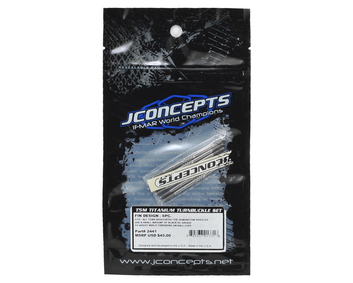 JConcepts T5M Generation Fin Titanium Turnbuckle Set (6)