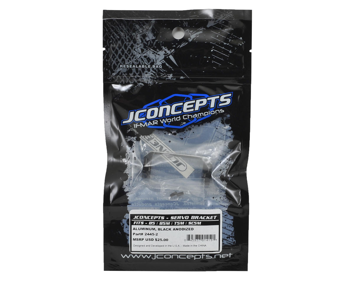 JConcepts B5M Aluminum Servo Mount Bracket (Black)