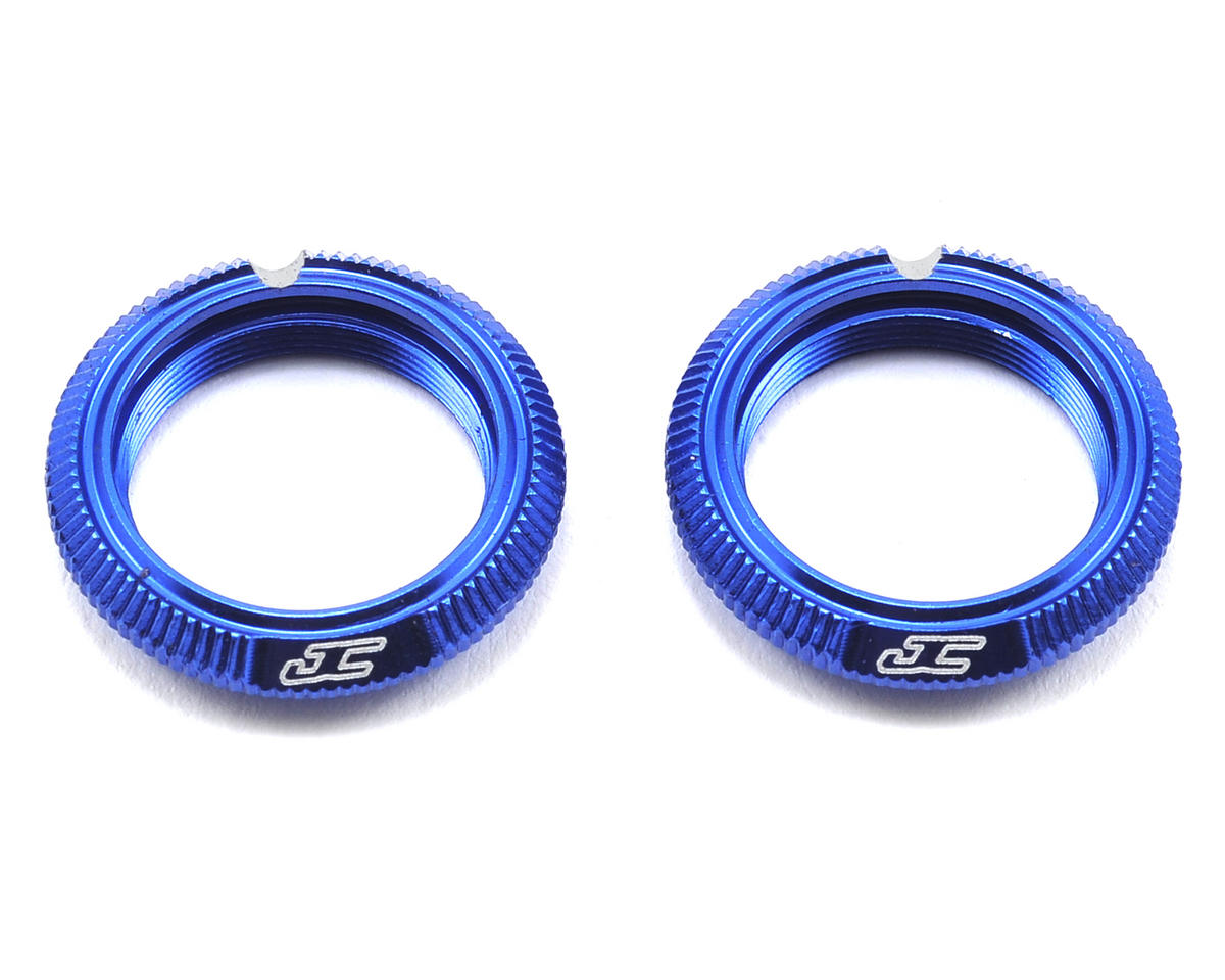 JConcepts Fin Aluminum 12mm Shock Collar (Blue) (2) (Team Associated RC10 B44)