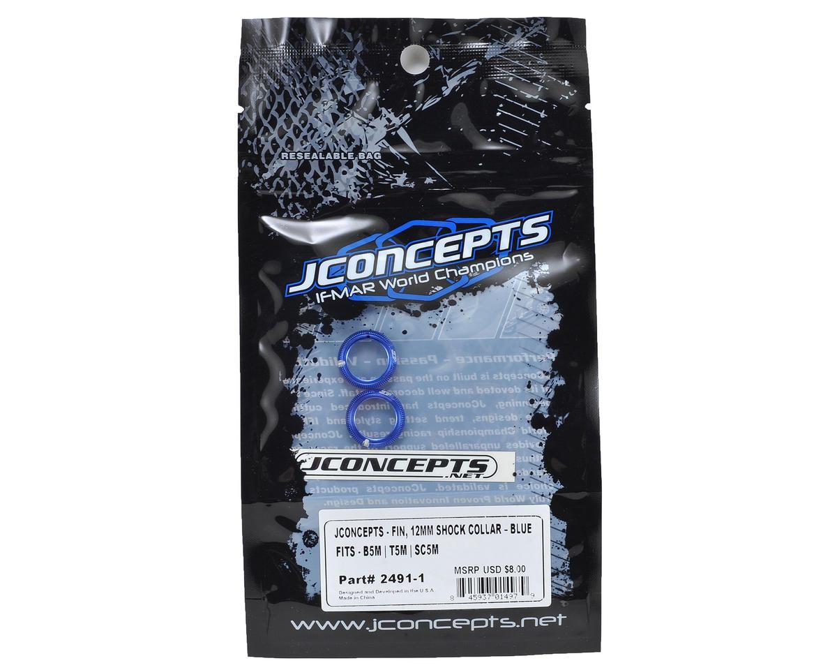 JConcepts Fin Aluminum 12mm Shock Collar (Blue) (2)