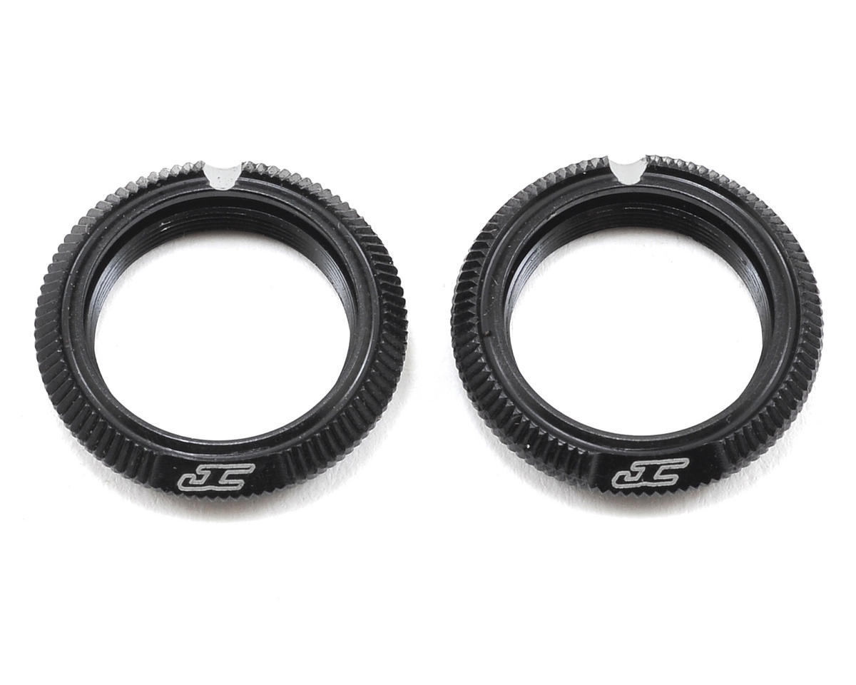JConcepts Fin Aluminum 12mm Shock Collar (Black) (2)