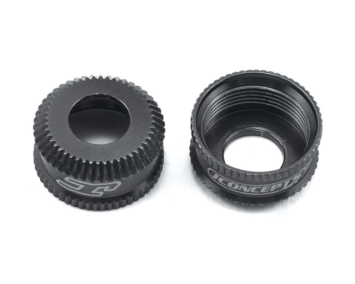 JConcepts Fin Aluminum VCS Shock Bottom Cap (Black) (2)