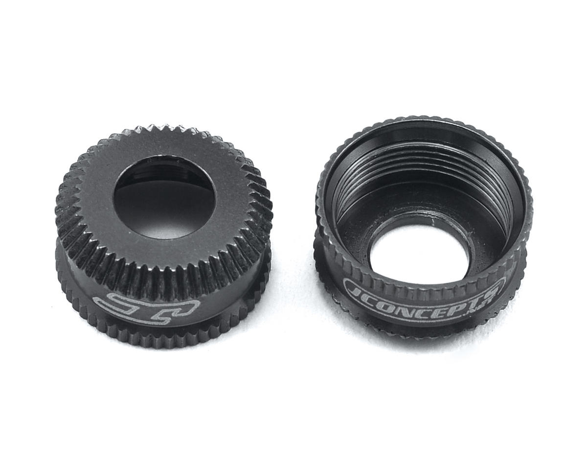 JConcepts Fin Aluminum VCS Shock Bottom Cap (Black) (2)